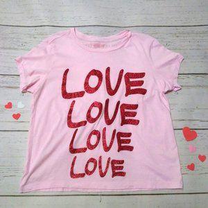 Victoria's Secret Love Shirt Pink & Red Valentine